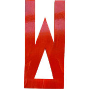 Red Bakelite Letter W Vintage 1930s Art Deco Initial