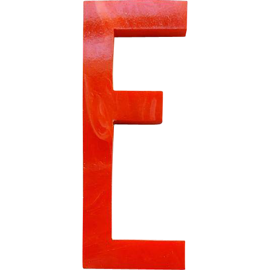 Red Bakelite Letter F Vintage 1930s Art Deco Initial