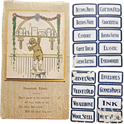 Rare Booklet of Antique Household Paper Labels 1910 Dennison's - Red Tag Sale Item