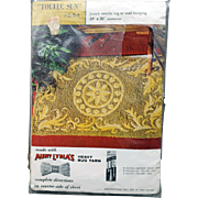 Punch Needle Rug Canvas 1950s Toltec Sun Kit