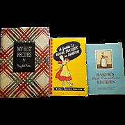Three Vintage Cookbooks 1930s, 1940s Amazing Recipes