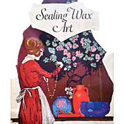 1922 Sealing Wax Art Booklet Dennison's DIY Hobby Craft Scrap Booking