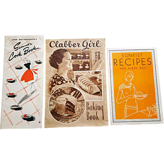 Group of Fabulous Old Cookbooks 1920s 1930s 1940s
