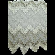 Antique Cobweb Lace with Silver Bullion Thread Edwardian Era