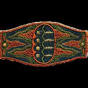 Art Nouveau Woven Medallion Rare Textile Find Estate