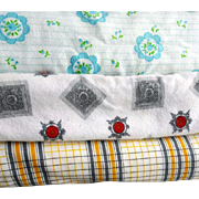12-1/2 Yards Vintage Cotton Flannel 12-1/2 Yards Mint 3 Pieces one Price