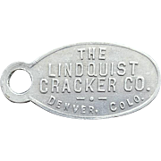 Metal Advertising Premium Lindquist Cracker Company Give Away