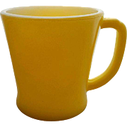 Vintage Fire King Coffee Mug Cup Bright Yellow D Handle