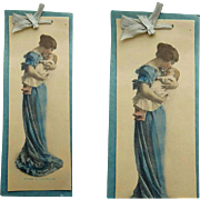 Antique Photograph Hand Tinted Mother and Baby 1900