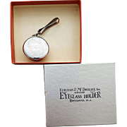 Vintage Eyeglass Holder Brooch with Retractable Chain MIB
