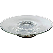 Short  Sterling Pedestal Crystal Cake Plate by Web