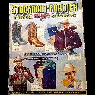 1939 - 1940 Western Clothing Catalog Boots Levi Stauss Stetson Chaps