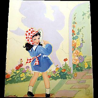 Fern Besil Peat Print My Shadow 1940s