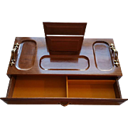 Men's Wood Valet Chest Jewelry Organizer Dresser Desk MIB