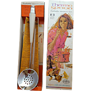 1965 Thermo Spoon Kitchen Thermometer MIB + Candy Thermometer Mint