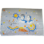 Vintage Star Trek Pillowcase MIP Original Series Spock Kirk Enterprise