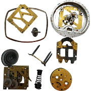 Antique Clock Parts for Steampunk Art and DIY Metal Artist