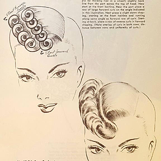 1950s Hair Dresser Cosmetologist Book Mystery of Hair Styling