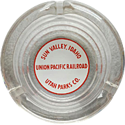 Vintage Sun Valley Idaho Union Pacific Railroad Utah Parks Ashtray
