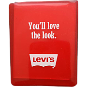 Vintage Advertising Pocket Mirror Levi's You'll Love the Look