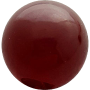 Burgundy Bakelite Button 1940s Big Round Beauty