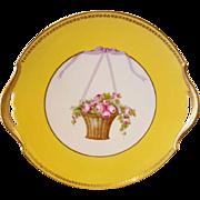 Tirschenreuth, Bavarian Porcelain Charger Pink Roses Germany