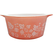 Pyrex Pink Gooseberry Casserole Dish 1 Quart # 473
