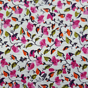 Vintage Cotton Sewing Fabric Extremely Small Flower Print Pinks