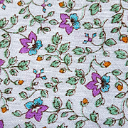 Sweet Vintage Fabric Tiny Purple and Blue Flowers 1 Yard Quilts