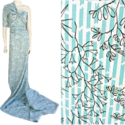 1950s Vintage Sewing Fabric 3+ Yards Cotton Material Make a Dress
