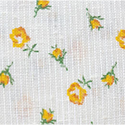 Dainty Yellow Roses Vintage Sewing Fabric Summer of 1969 Extra Wide