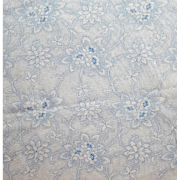 Vintage Sewing Fabric Blue Picotage Floral Cotton and Polyester 2 yards Extra Wide