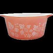 Pink Pyrex Gooseberry Casserole Dish 1 Quart # 473