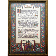 1920s Motto Print PALS by Anne Campbell Original Wood Frame Wedding Anniversary