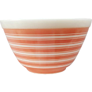 Vintage Rainbow Pink Pyrex Striped Nesting Bowl #401 Minty