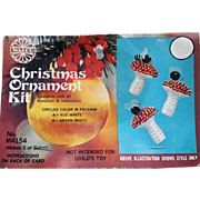 Vintage Christmas Ornament Kit Sequin Beaded Bumble Bees on Mushrooms 1974