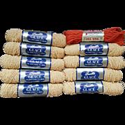 Vintage 1950s Crochet Thread or Yarn 9 Skeins + Extra