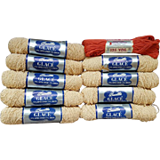 Vintage 1950s Crochet Thread or Yarn 9 Skeins + Extra