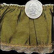 Antique Taffeta Fabric Trim Gold Bullion Metallic Lace Trim for French Fashion Dolls