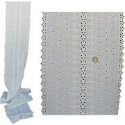 Cotton Embroidered Eyelet Sewing Fabric 4 yards Vintage 1940s - 1950s