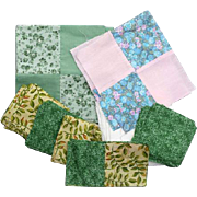Cotton Quilt Blocks Cut Pieces Unfinished Lot Quilting Squares