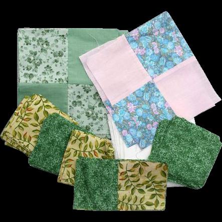 Cotton Quilt Blocks Cut Pieces Unfinished Lot Quilting Squares