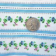 Vintage Cotton Pillowcase Tubing Wallpaper Print Linens Textiles