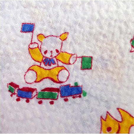 Vintage 1950s Cotton Sewing Fabric Children's Print Baby Size Pandas Puppies