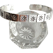 Superb Heavy Sterling Silver Sun Cuff Bracelet 22.6 Grams