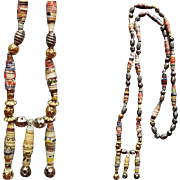 Rolled Paper and Metal Bead Necklace 1990