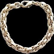 Sterling Silver Bracelet Basket Weave Links 25.6 Grams