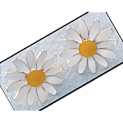 Summer Daisy Earrings Accessocraft of New York Comfort Clips
