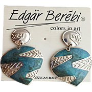 Vintage Edgar Berebi Pierced Earrings Mint on Card