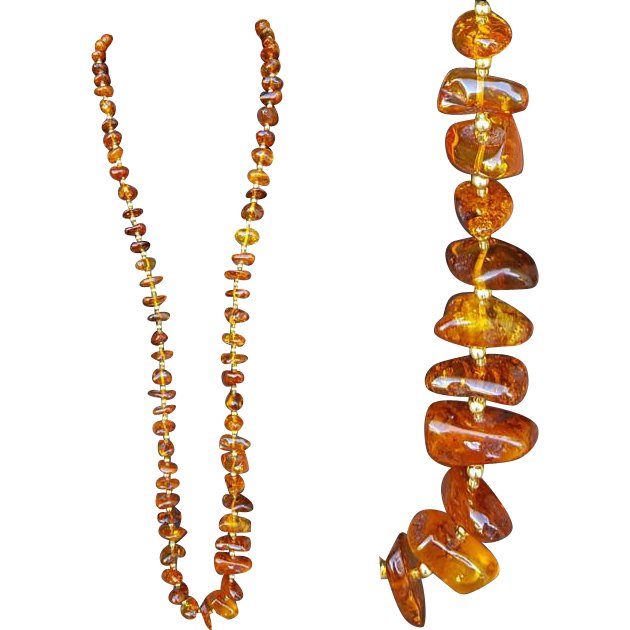 Vintage Baltic Amber Necklace Extra Long